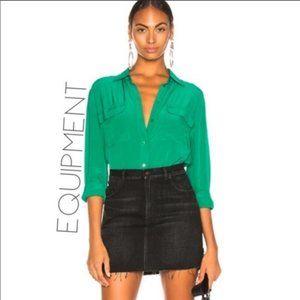 Equipment Femme 100% Silk Signature Blouse Small